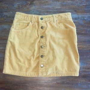 billabong yellow/orange skirt
